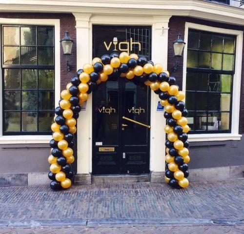 ballonnenboog-zwart-goud